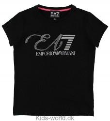 EA7 T-shirt - Sort m. Pailletter