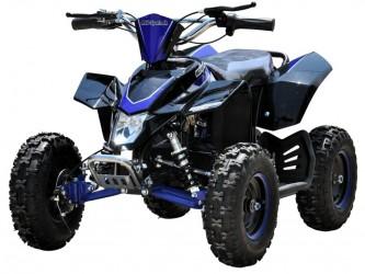 EL Mini ATV 1000W m/fart begrænser+lys 36V14AH Blå