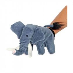 Elefant hånddukke