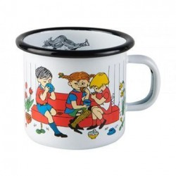 Emalje Krus Pippi Langstrømpe Kaffeselskab 2,5 dl fra Muurla
