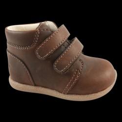 En Fant Begynder sko med Velcro - Brandy/-05