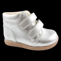 En Fant begynder sko med Velcro - Silver/-01