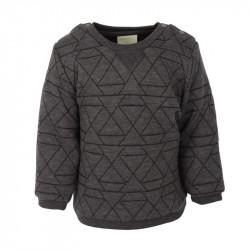 EN FANT Sweatshirt - Quiltet - Asphalt