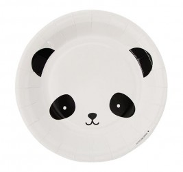 Engangstallerken fra A Little Lovely Company - Panda (12 stk)