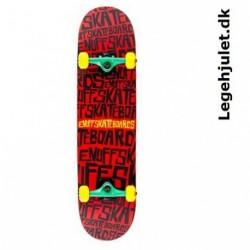 Enuff Scramble Skateboard Rød Sort