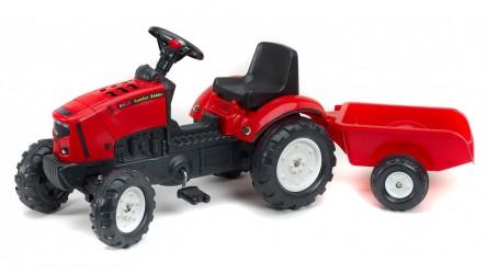 Falk Lander Z160X Traktor m/Trailer + Åben motorhjelm