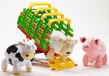 Falk Toys Maxi Trailer med 3 dyr