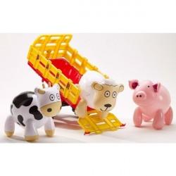 Falk Toys Trailer med 3 dyr