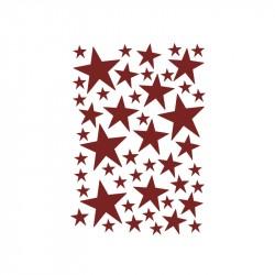 FermLiving Wallsticker Mini Stars Rød