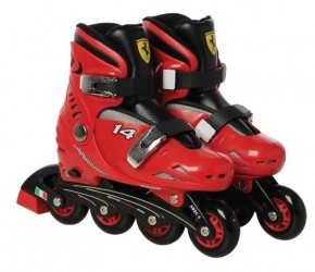 Ferrari inlinere Rulleskøjter børn str. 29-32, Rød