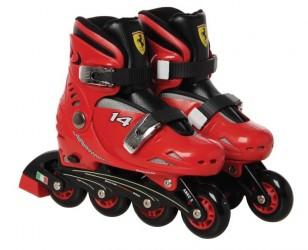 Ferrari inlinere Rulleskøjter børn str. 33-36, Rød