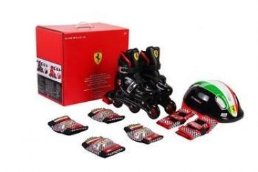 Ferrari Inliners rulleskøjter 33-36 komplet sæt