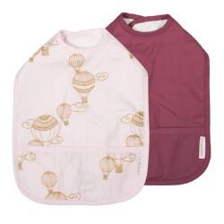 Filibabba hagesmække - Airballoon - Lys rosa/blomme - 2 stk.