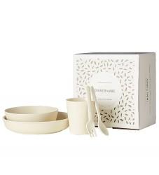 Filibabba Spisesæt - 5-dele - Bambus - Natur Hvid