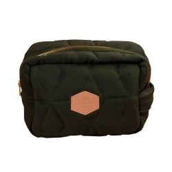 Filibabba Toilettaske Lille Soft quilt, Dark green