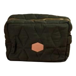 Filibabba Toilettaske Stor Soft quilt, Dark green