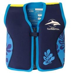 Flydejakke - Konfidence Jacket - Navy/Blue Palm