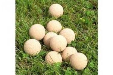 Fodbolde - 10 stk kork natur til bordfodbold