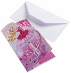 Fødselsdag invitation - Dancing Barbie (6 stk)