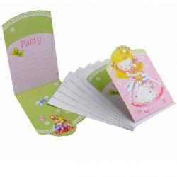 Fødselsdag invitation - Little Princess (6 stk)