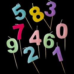 Fødselsdagslys fra Rice - Assorterede pastelfaver (1 stk)