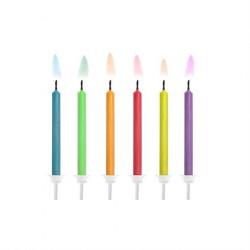 Fødselsdagslys med farvede flammer