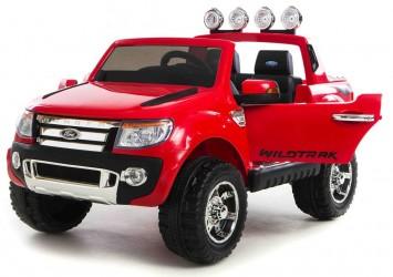 Ford Ranger til Børn 12V Rød, m/2.4G Remote, Gummihjul