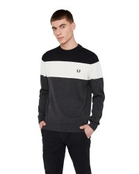 Fred Perry Panelled Jumper strik