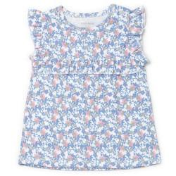 Friends kjole - Blå med blomster