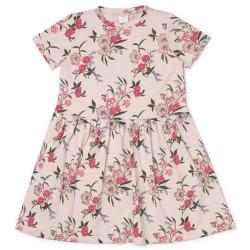Friends kjole med blomster - Lyserød