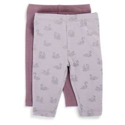 Friends leggings - Lilla/svane - 2 stk.
