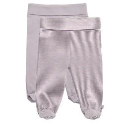 Friends leggings med fødder - Lillastribet/lys lilla - 2 stk.
