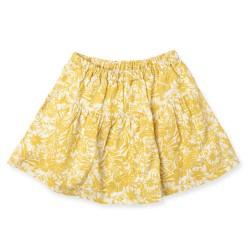 Friends nederdel - Gul blomsterprint