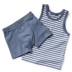 Friends undertøjssæt - Blå/hvid
