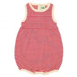 FUB Baby Romper Suit Ecru/Red SS19