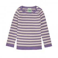 FUB Baby Striped Rib Blouse Ecru/Lavender SS20