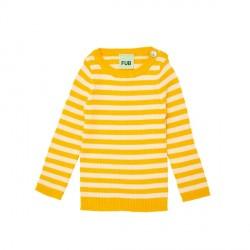 FUB Baby Striped Rib Blouse Yellow/Ecru SS19