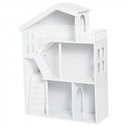 Furniture, Reol, Dukkehus, 3 etager, Hvid