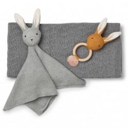 Gavesæt fra Liewood - Petra baby knit package - Grey melange