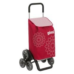 Gimi indkøbstrolley - Tris - Rød