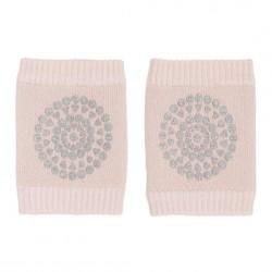 GoBabyGo kravle knæbeskyttere - Soft pink glitter