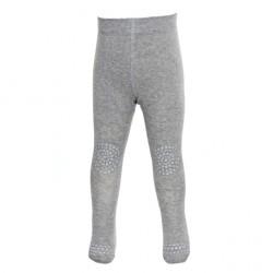 GoBabyGo kravle strømpebukser - Grey Melange