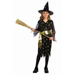 Golden Heks Kostume Med Hat