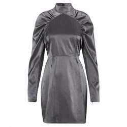 Grey Sliver Lurex Margrett Dress Dress Derulio 45487179 fra mbyM