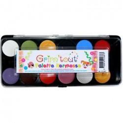 Grim Tout Ansigtsmaling Farve-palet 12 farver