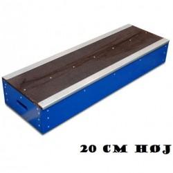 Grindbox 20 cm Nation i træ og metal skinne