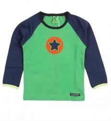 Grøn/Blå Stjerne Bluse Fra Villervalla