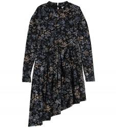 Grunt Kjole - Adele - Black Flower