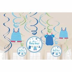 Guirlander - Swirl Decorations - Its a Baby Boy (12 dele)
