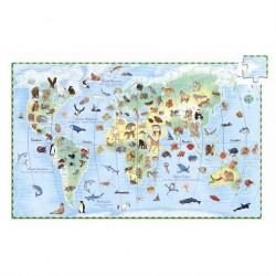 Gulvpuslespil Verdens dyr 100 brikker fra Djeco